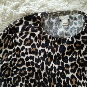 J. Crew Factory animal print stretchy top small